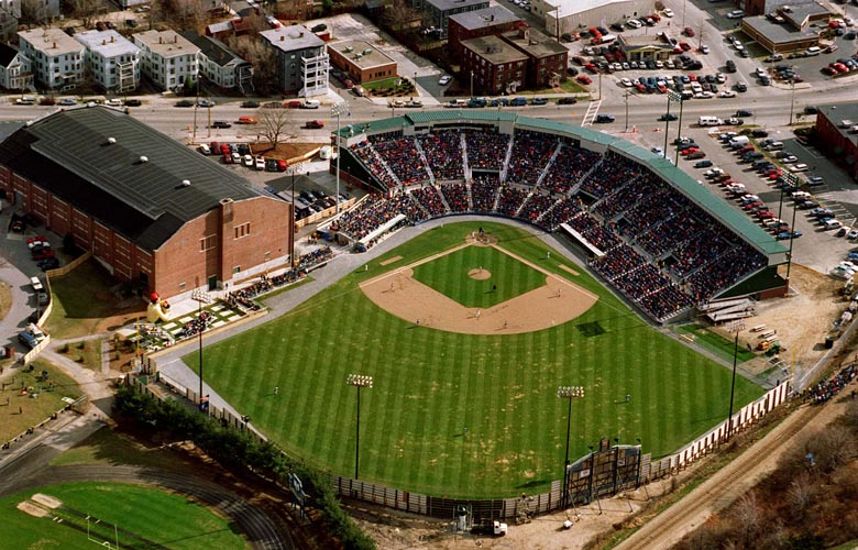 PHOTO BY MERRY FARNUM -- April 18, 1994 -- Opening day at Hadlock Field - SOURCE
