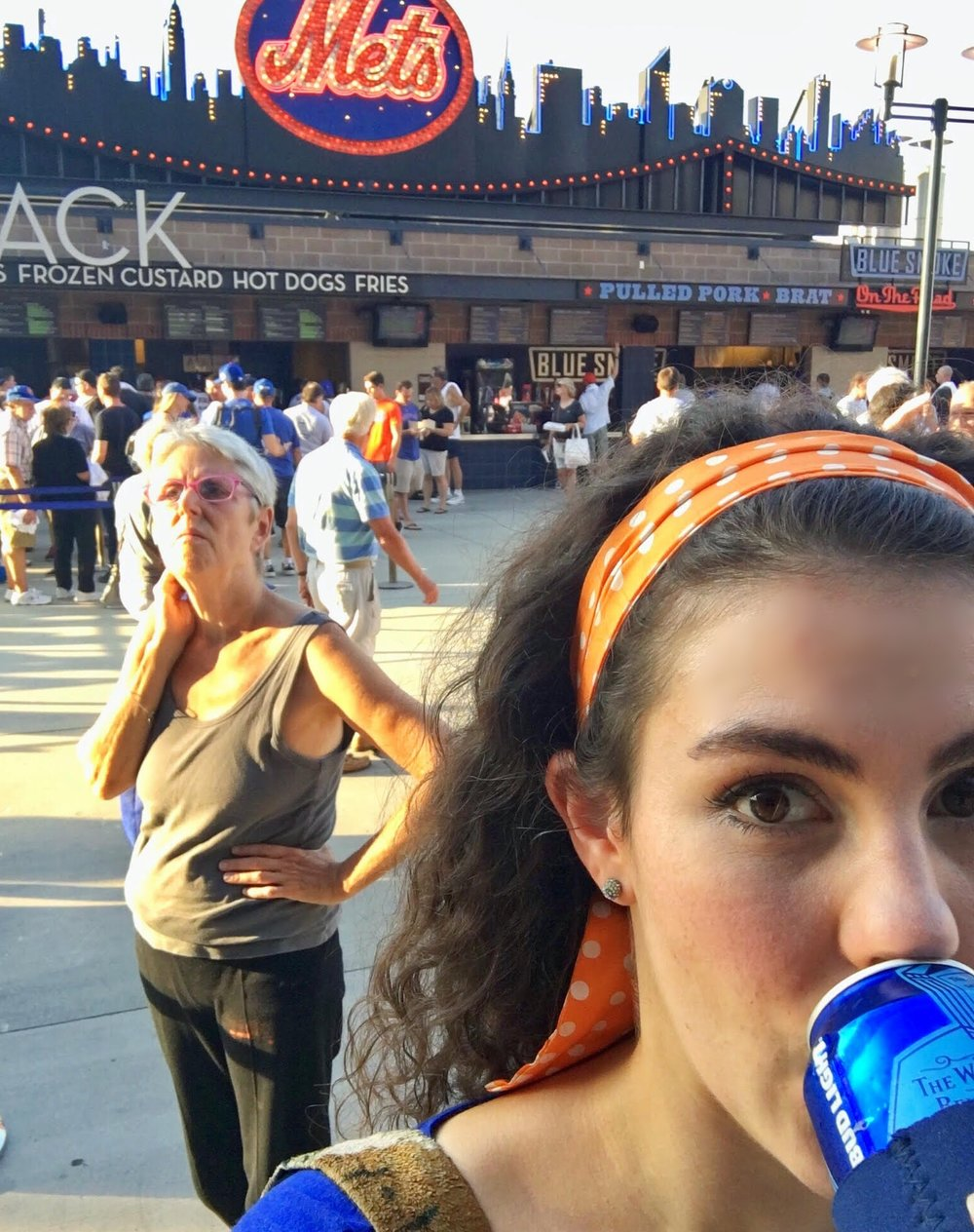 that lady behind me was upset because she wasn't drinking an ice cold bud light.