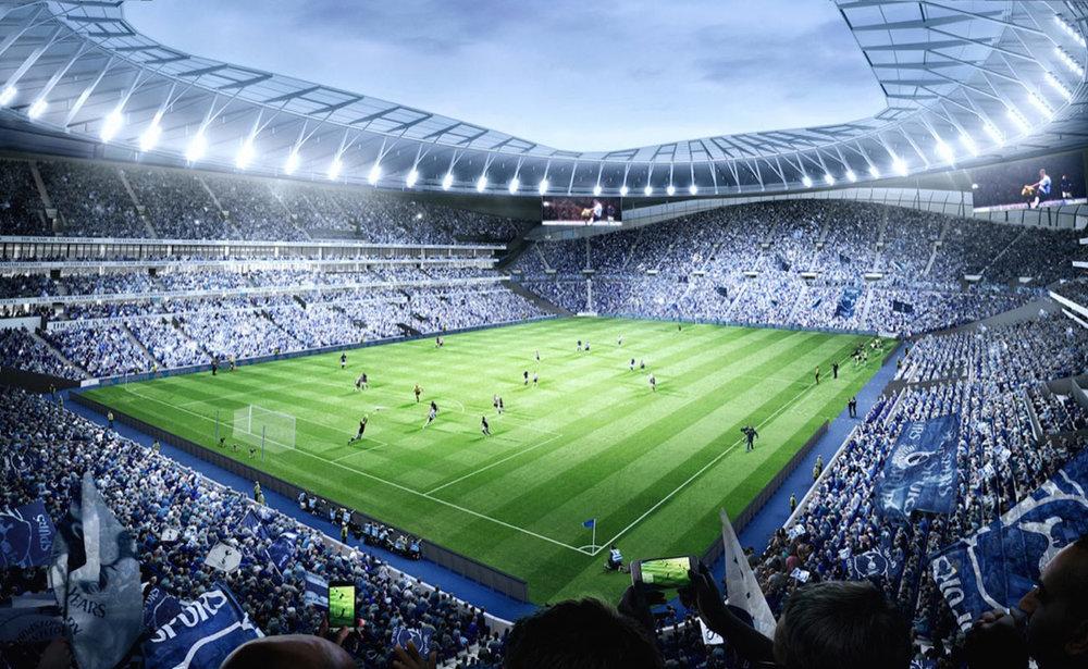 Rendering of Tottenham's new 61,000 seat stadium