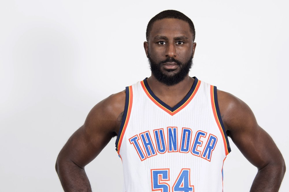 I literally couldn't find a photo of Patrick Patterson actually playing in an Okc jersey. put him in the damn game.