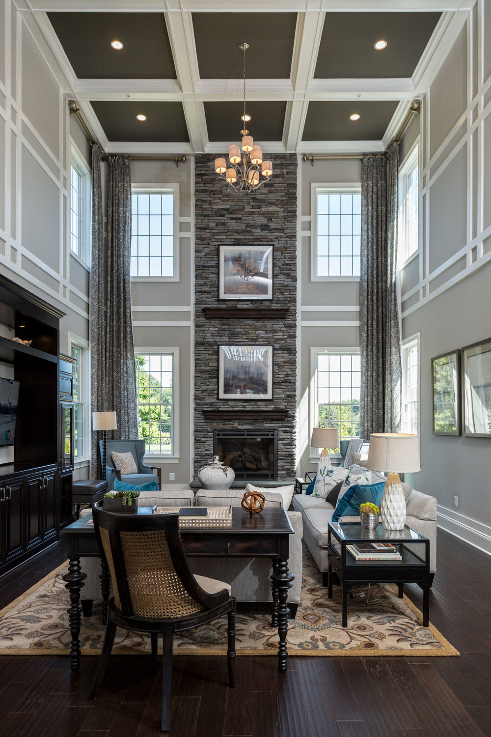 Two Story Family Room in Olney Maryland