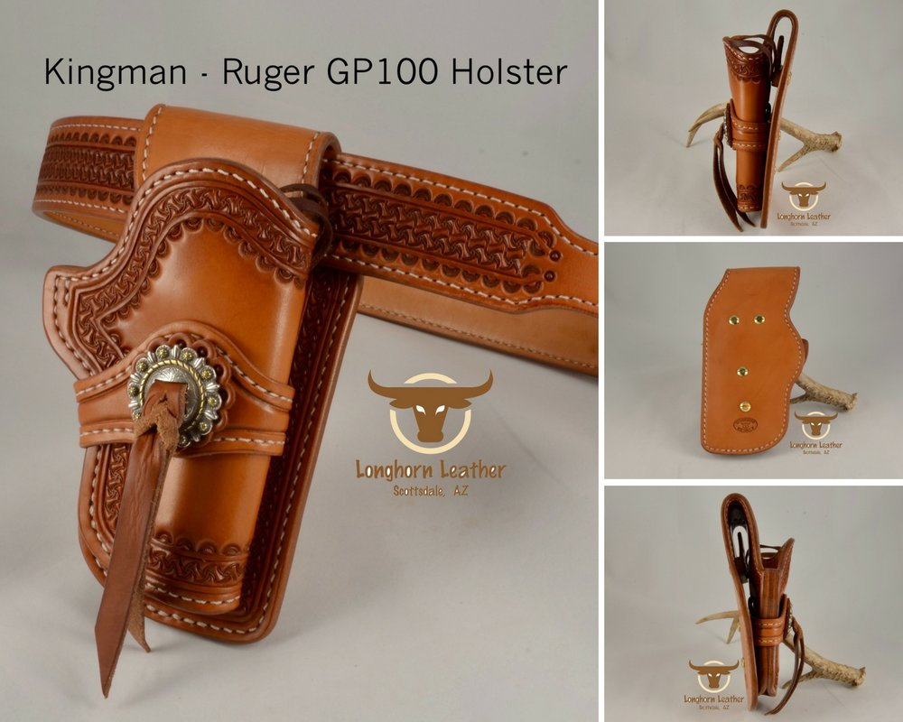 Kingman - Ruger GP100 Holster & Gun Belt