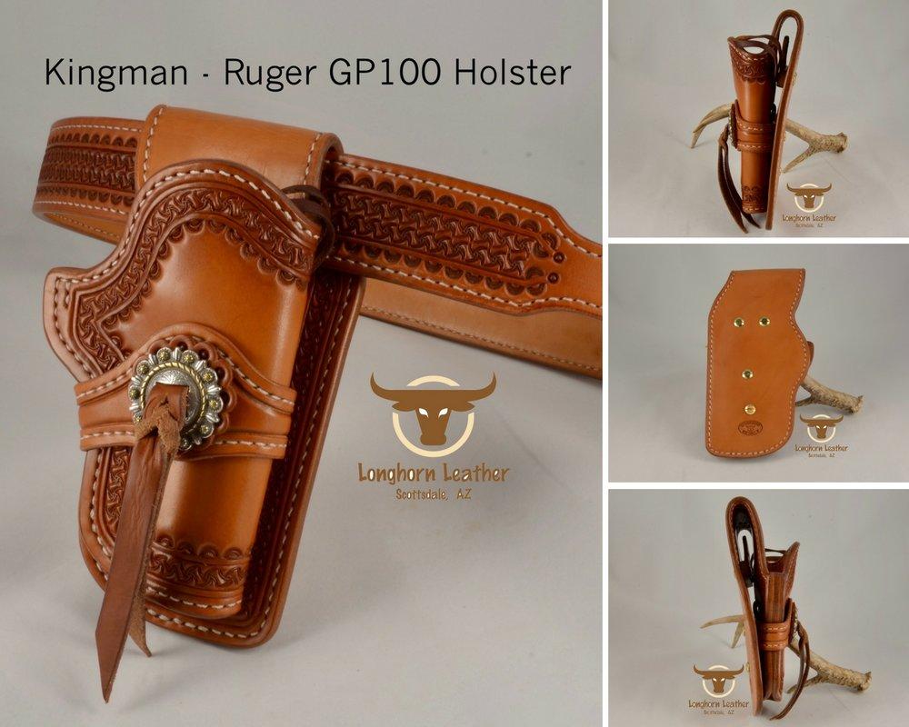 Kingman - Ruger GP100 Holster & Gun Belt