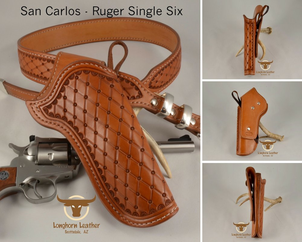 San Carlos - Ruger Single Six Holster & Gun Belt