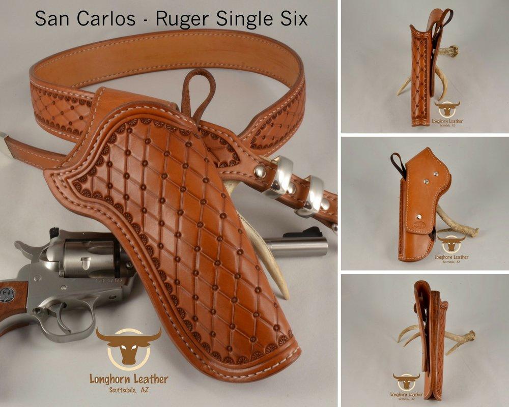 San Carlos - Ruger Single Six Holster & Gun Belt