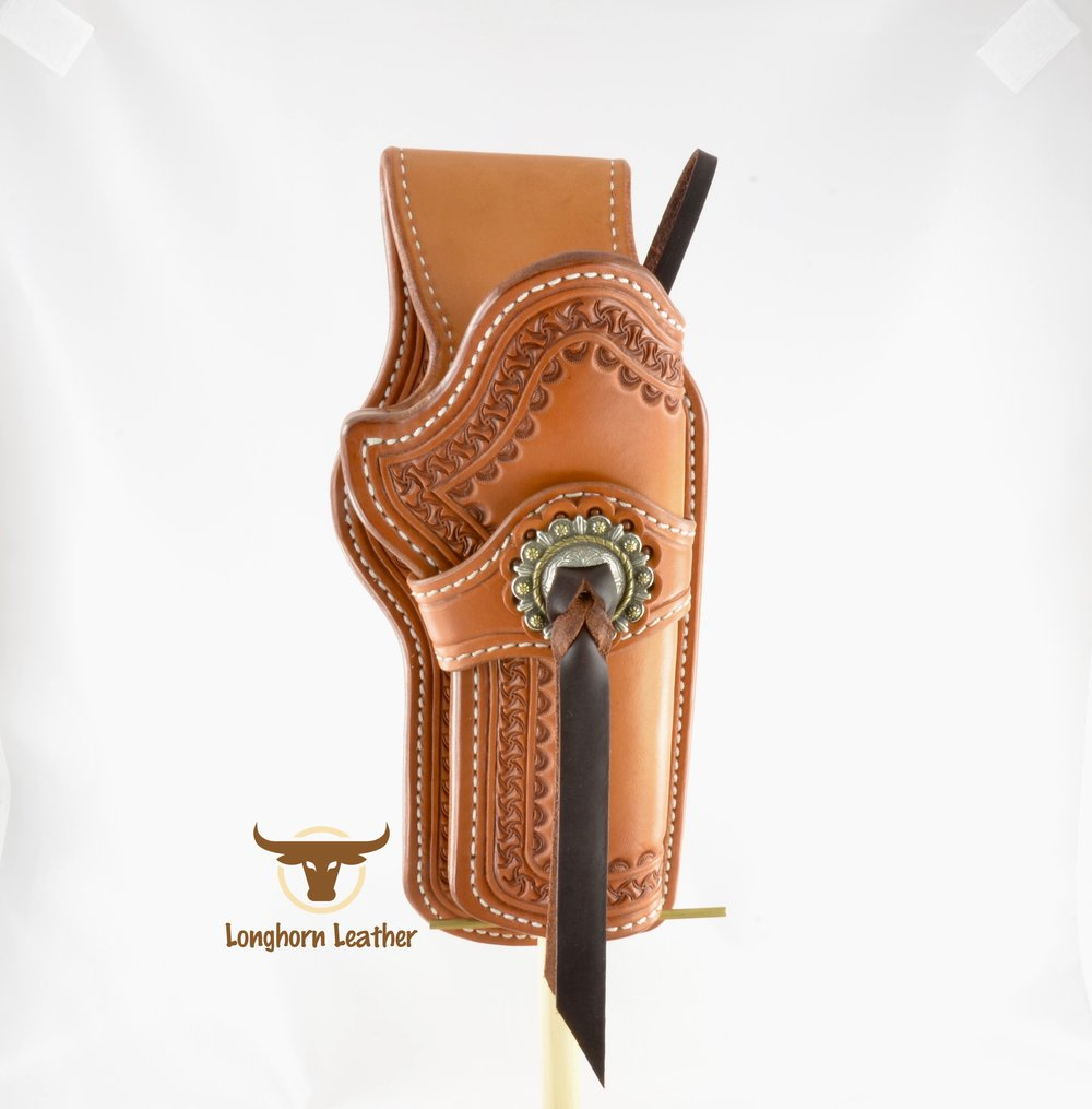Longhorn Leather AZ - Ruger GP100 holster featuring the %22Kingman%22 design. 4.jpg