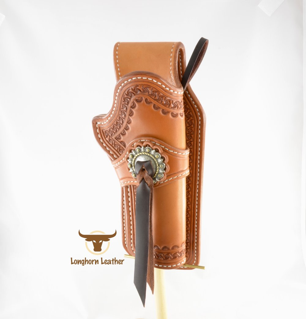 Longhorn Leather AZ - Ruger GP100 holster featuring the %22Kingman%22 design. 5.jpg