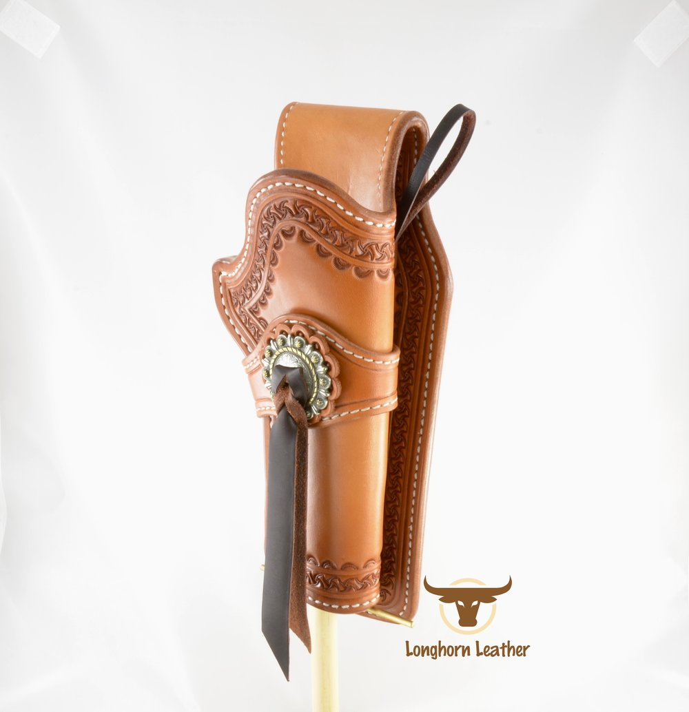 Longhorn Leather AZ - Ruger GP100 holster featuring the %22Kingman%22 design. 6.jpg