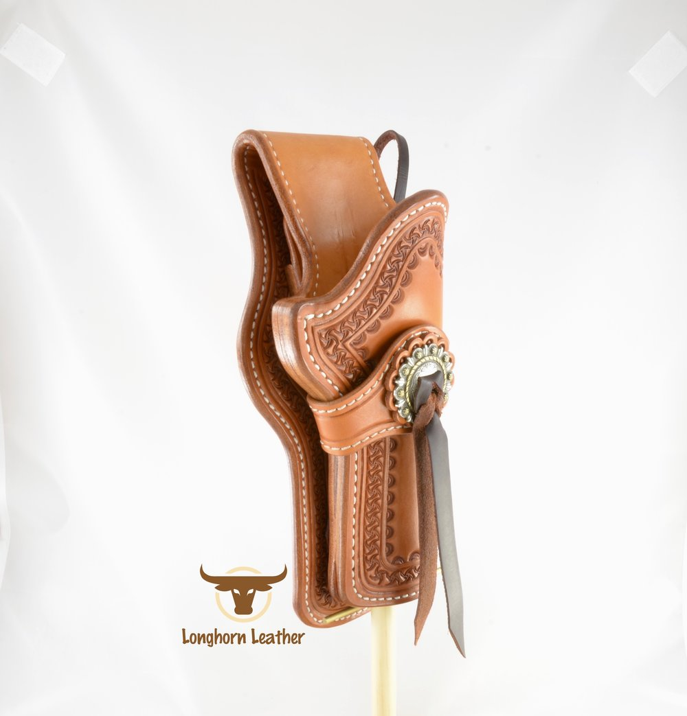 Longhorn Leather AZ - Ruger GP100 holster featuring the %22Kingman%22 design. 9.jpg