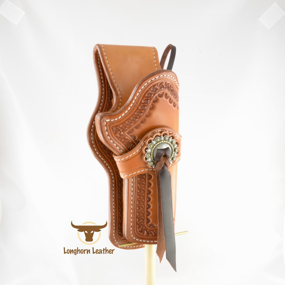Longhorn Leather AZ - Ruger GP100 holster featuring the %22Kingman%22 design. 10.jpg