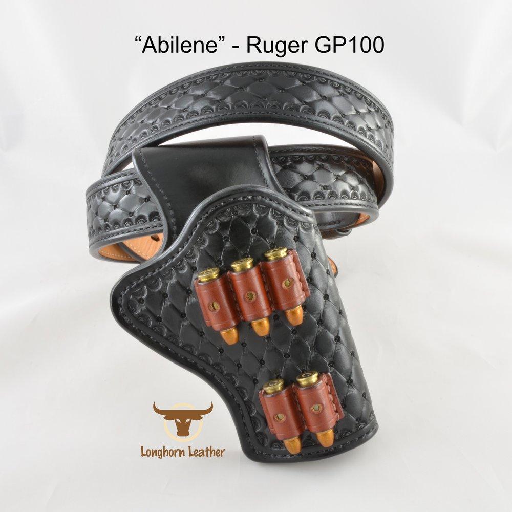 Longhorn Leather AZ - Ruger GP100 holster featuring the %22Abilene%22 design.jpg