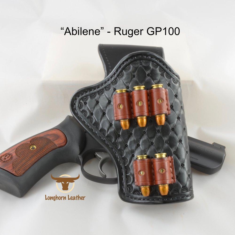 Longhorn Leather AZ - Ruger GP100 holster featuring the %22Abilene%22 design 2.jpg