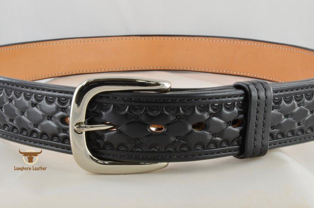 Longhorn Leather AZ - 1.5%22 Gun Belt featuring the %22Abilene%22 design 4.jpg