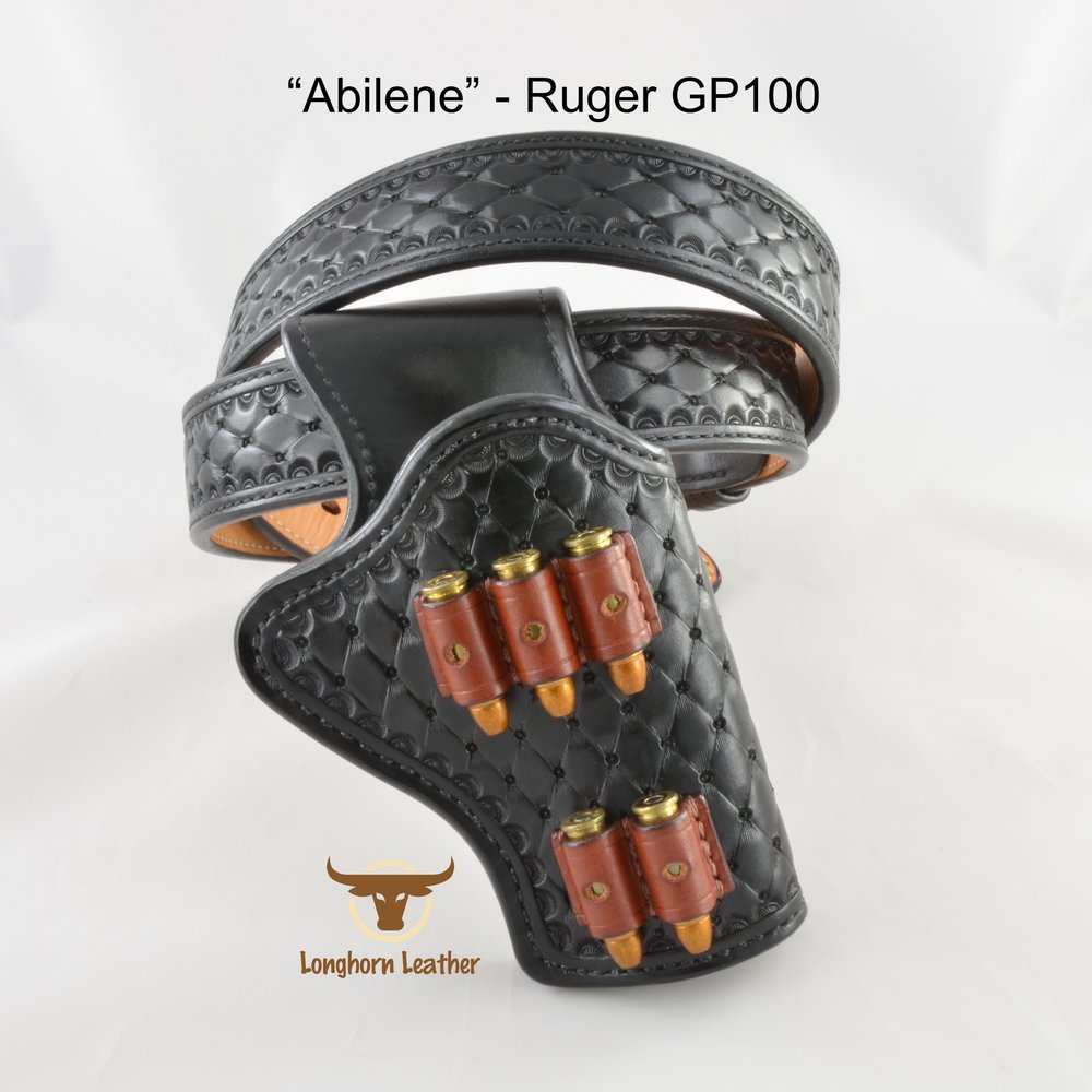 Longhorn Leather AZ - Ruger GP100 holster featuring the %22Abilene%22 design.jpg