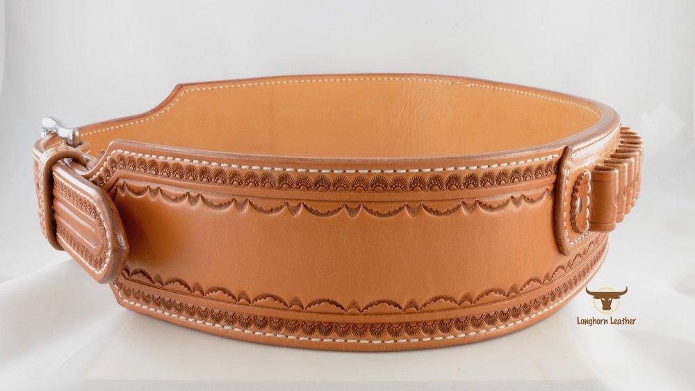 2.75%22 Cartridge Belt featuring the %22Deadwood%22 design- Longhorn Leather AZ 5.jpg