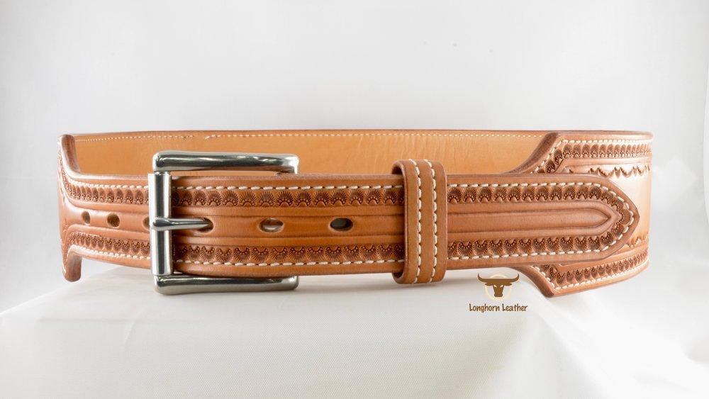 2.75%22 Cartridge Belt featuring the %22Deadwood%22 design- Longhorn Leather AZ 3.jpg