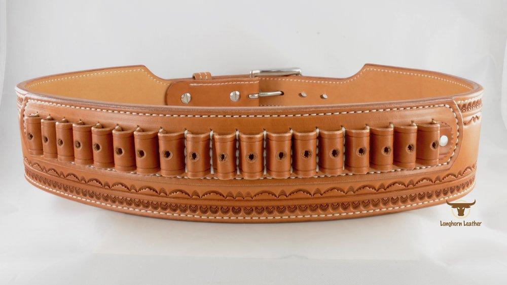 2.75%22 Cartridge Belt featuring the %22Deadwood%22 design- Longhorn Leather AZ 4.jpg