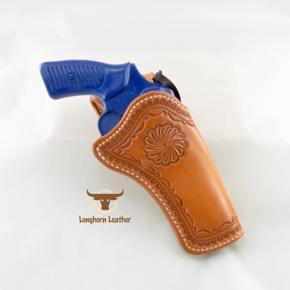 Ruger SP101 holster and gun belt featuring the Rio Verde design - Longhorn Leather AZ