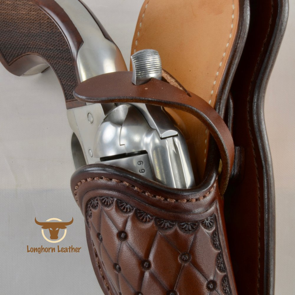 Longhorn Leather AZ - Single Action holster featuring the %22San Carlos%22 design 5.jpg