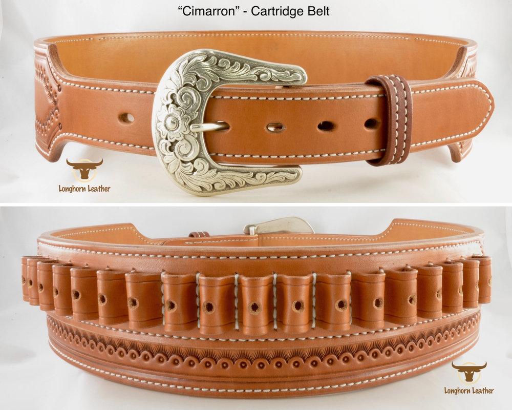 Longhorn Leather AZ - 2.75%22 Catridge belt featuring the %22Cimarron%22 design 5.jpg