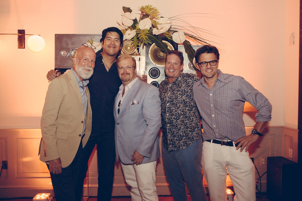 David Beahm, Dennis Kwan, Ed Libby, Bob Conti, and Christian Oth. Event photography by Christian Oth Studio.