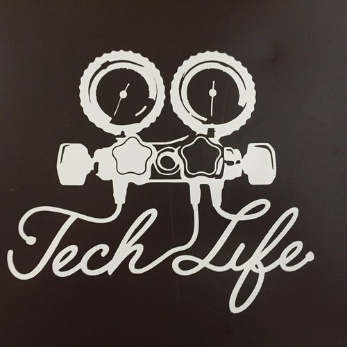 Tech life vinyl decal small