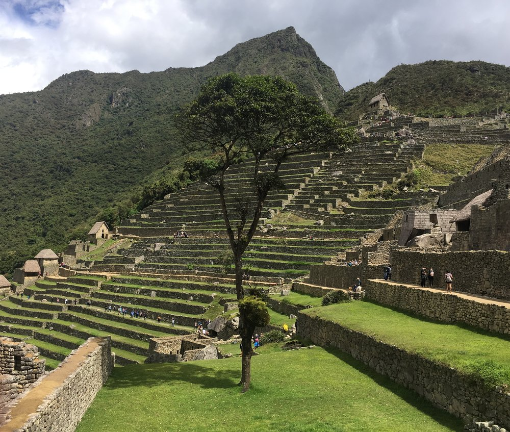 View from the east side of the ruin looking towards the Montana Picchu and the main entrance.