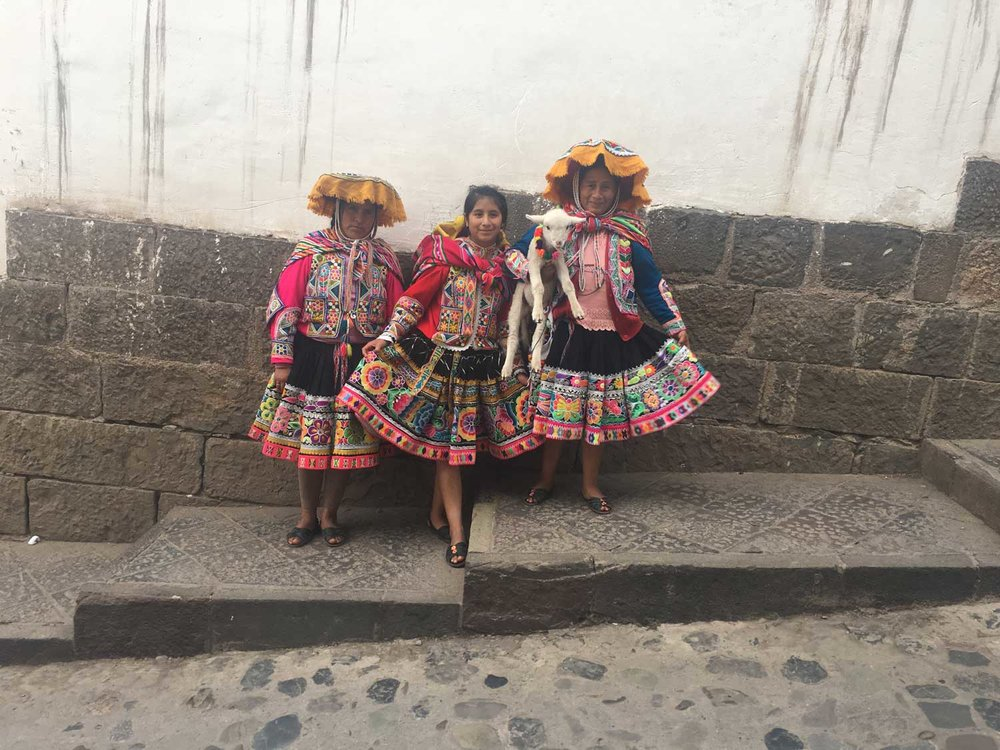 Traditional Peruvian Dress in Cusco