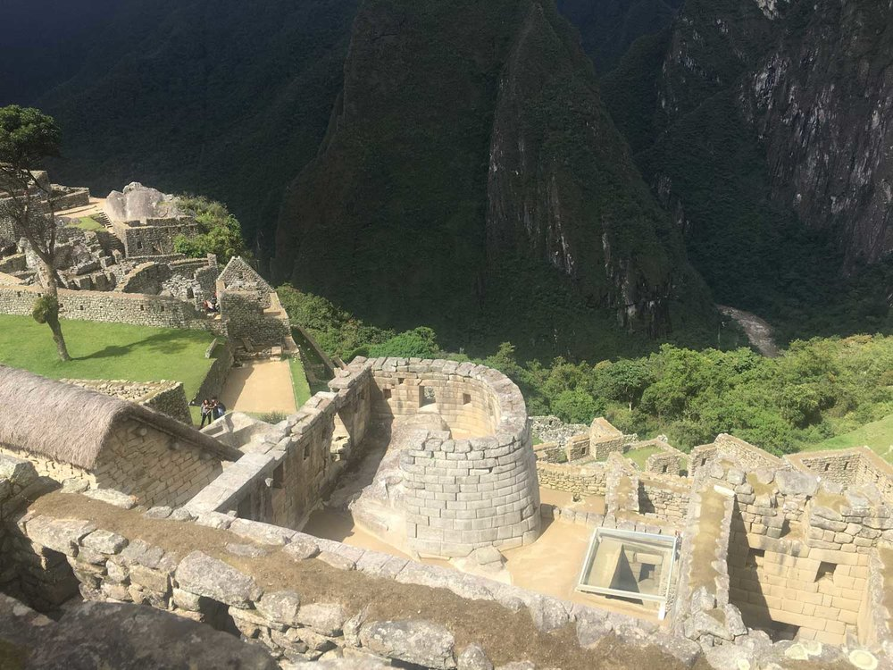 The Temple of the Sun at Machu Picchu