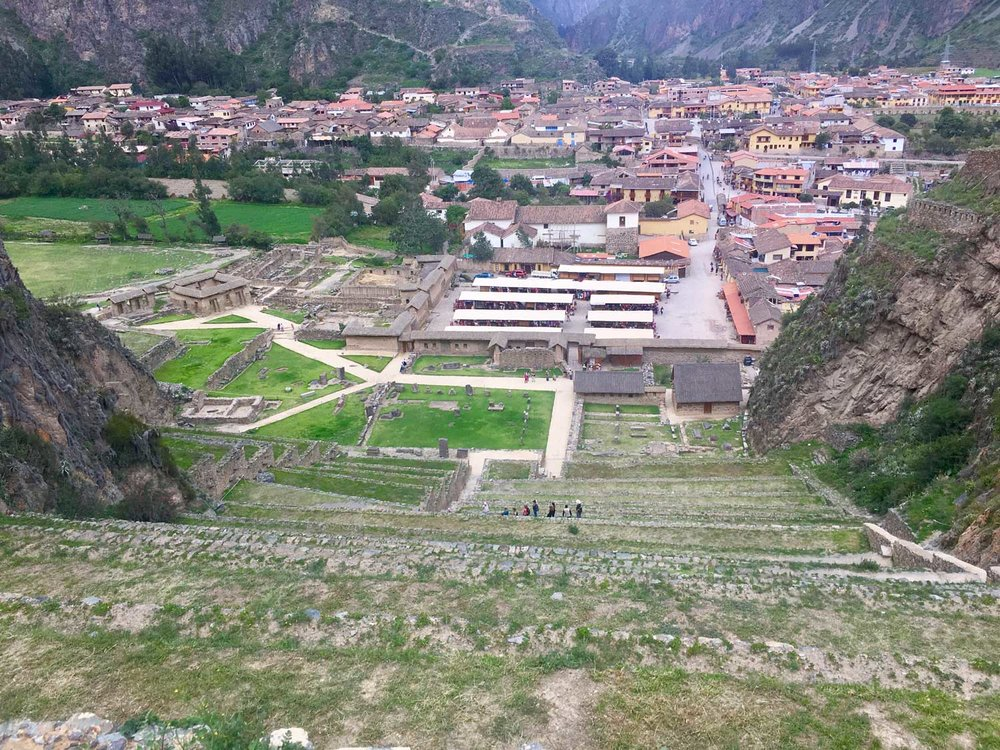 View Overlooking Ollantaytambo