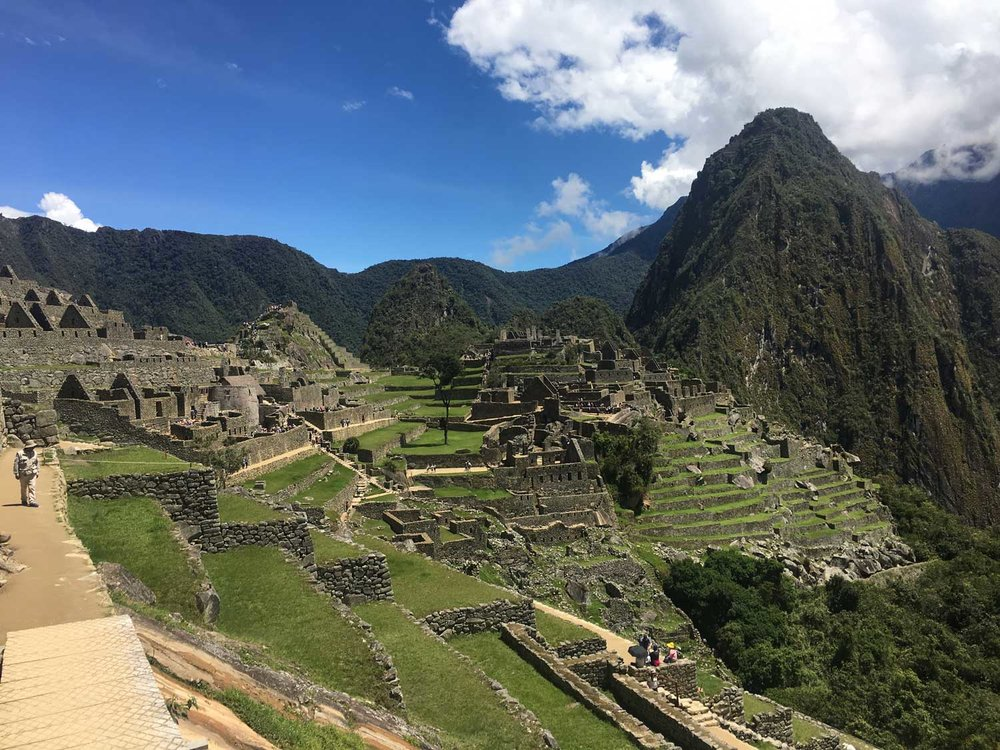 View from east side of Machu Picchu