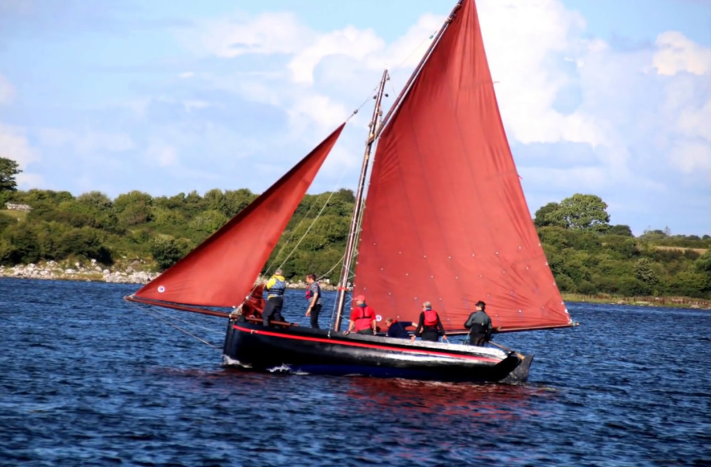 Sailing on Galway Hooker