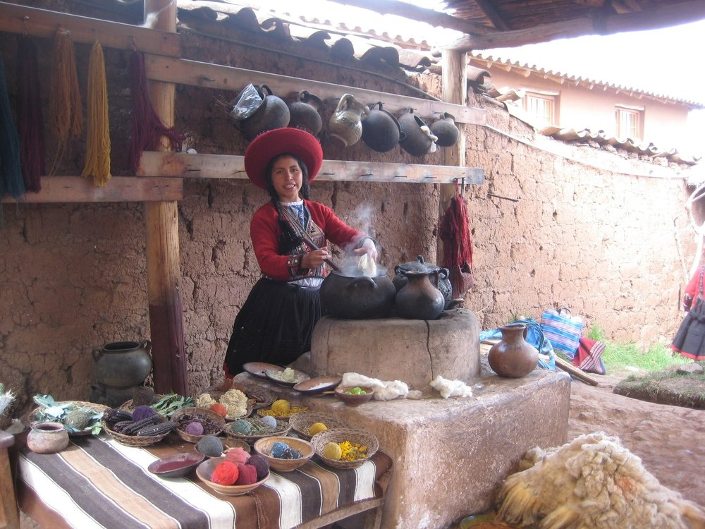 Traditional Alpaca Wool Weaving