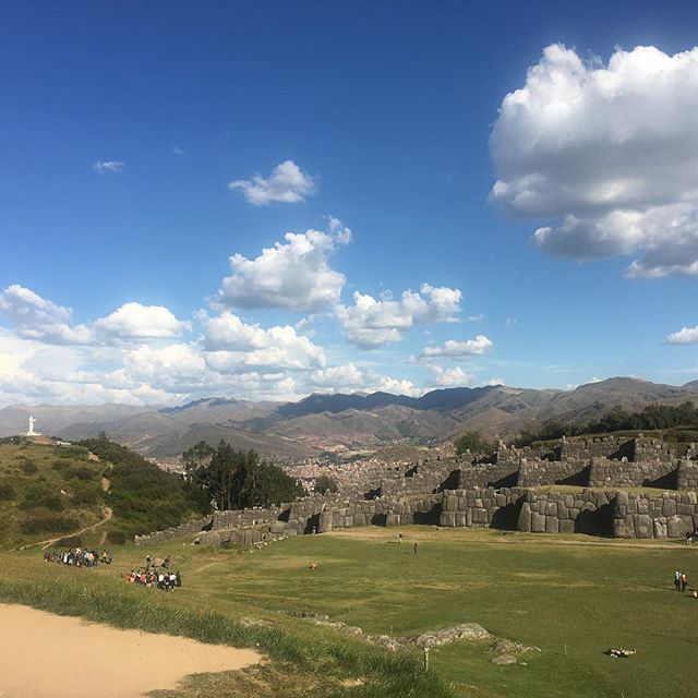 Looking from the Sacsayhuaman ruins over Cusco.  #sacsayhuaman #incaruins #cusco #perutravel #unboundedadventures