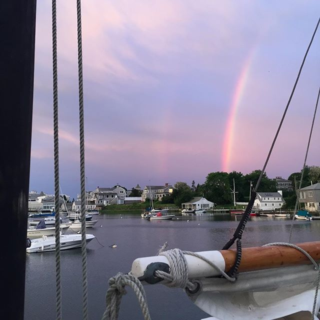 Pulled into port this morn to this rainbow! Happy summer solstice!