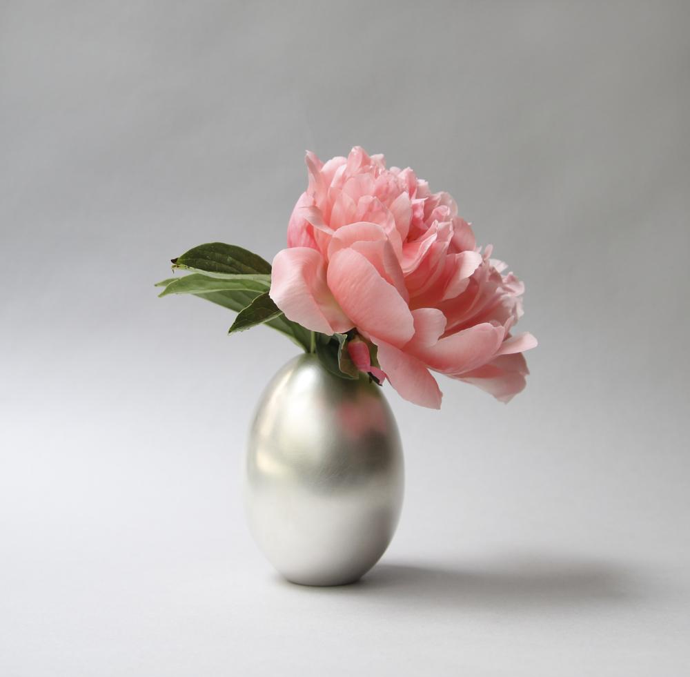Egg Vase Silver