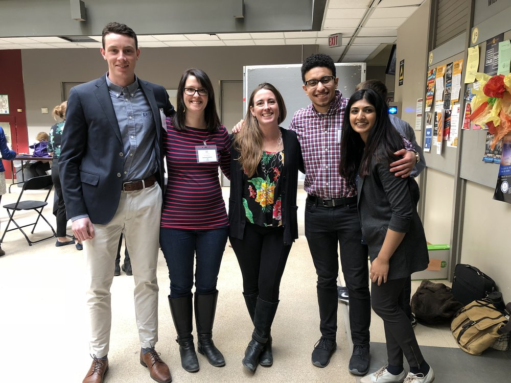 Successful Health Sciences Poster Day 2018. We're proud of Phil (left) who took home the best poster award for the Masters cohort!