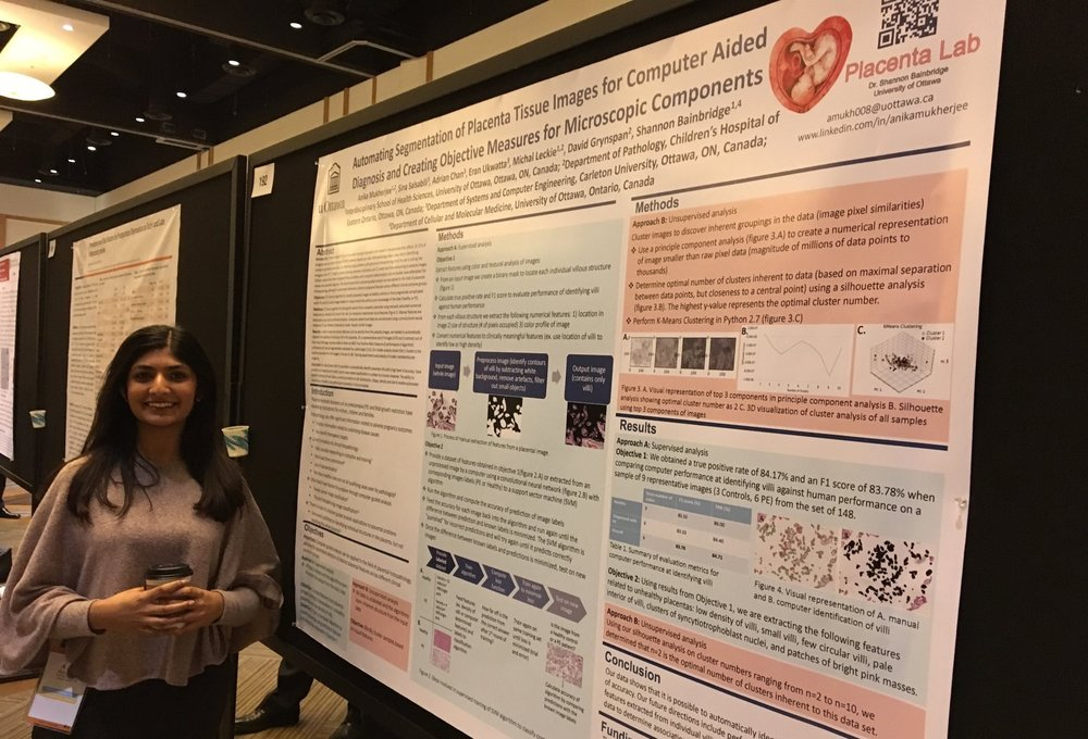 Anika presenting her research poster at the Annual SRI meeting in San Diego 2018.