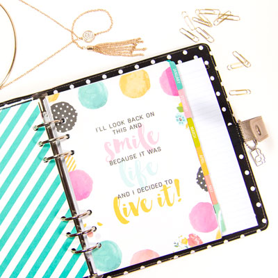 Planner 101: Platinum Carpe Diem planner by Simple Stories.