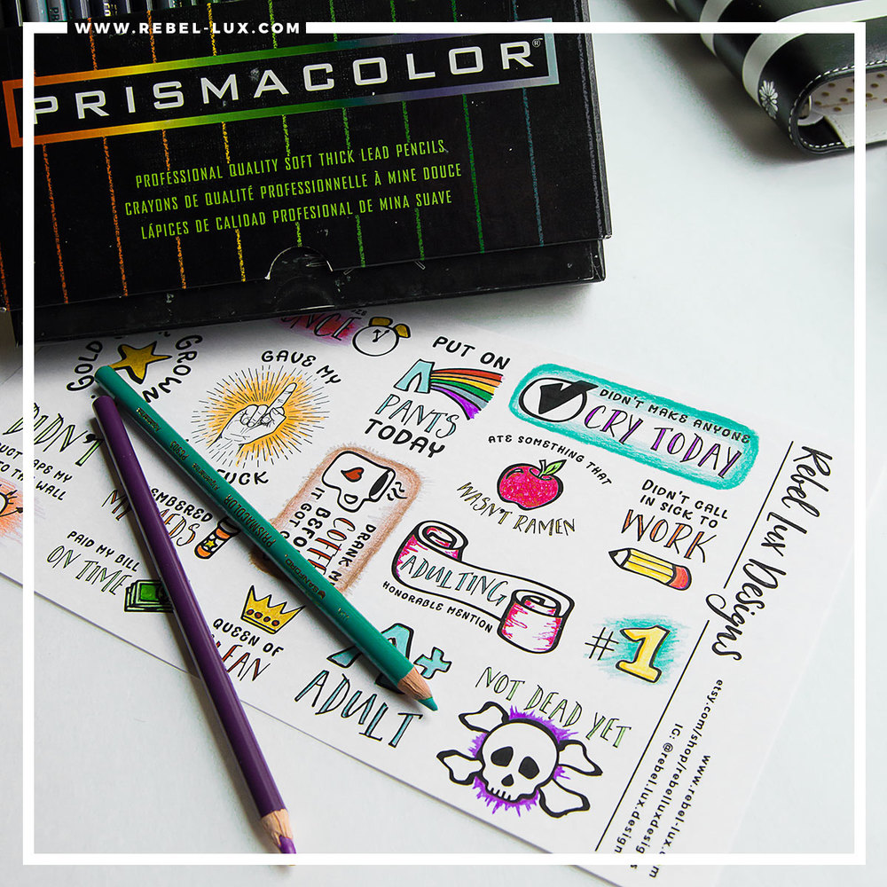 Adulting Awards: coloring book stickers that can help you celebrate the small things in life.