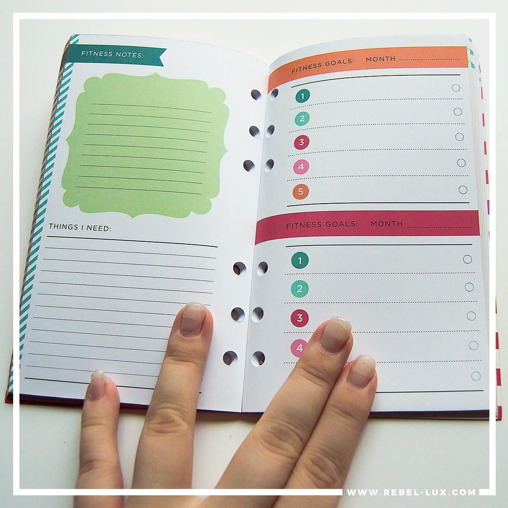 Planner review: Recollections. Monthly spread in the Fitness inserts pack.