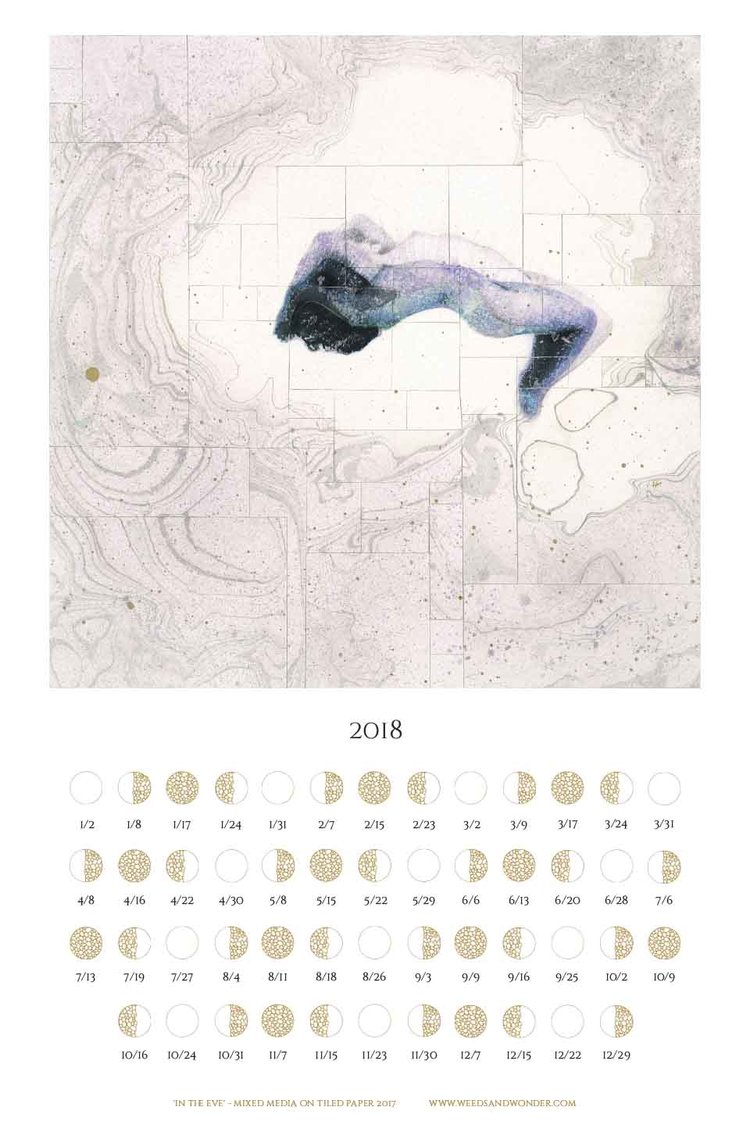 2018 Moon Phase Poster