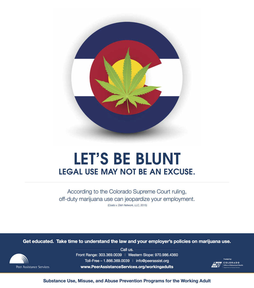 Marijuana in the Workplace poster