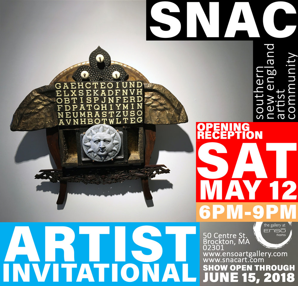 "From press copy: ""Annually, SNAC uses this regional show as an opportunity for contributing members to extend an invitation to peers and colleagues and better expand their teeming network of creatives while helping to explain their own peripheral influences. For more information about SNAC and its programs, visit their website at www.snacart.com and give them a solid IG follow  @snacart  today!"""
