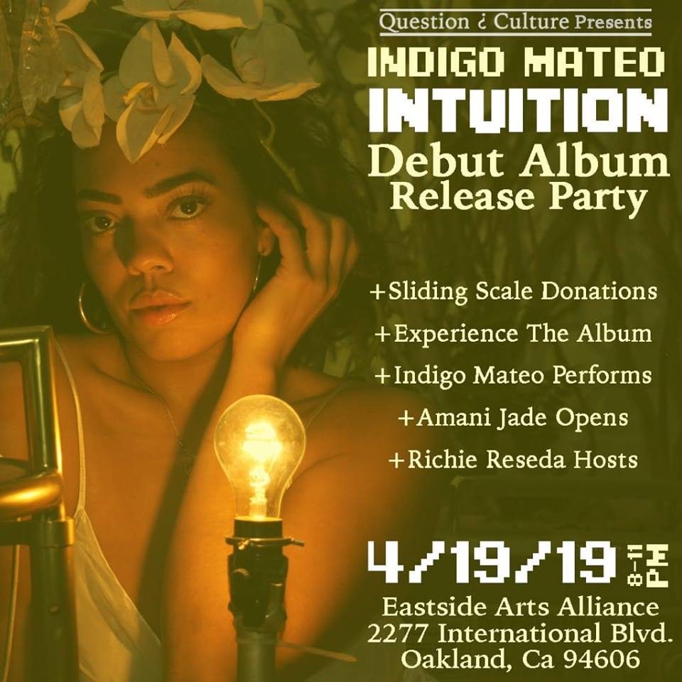 Join us on 4.19.19 as we celebrate the release of Indigo's Debut Album, INTUITION