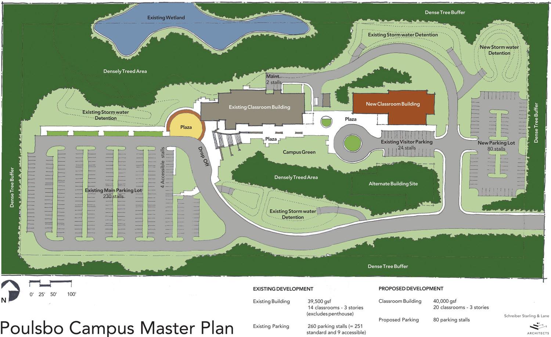 Oc Campus Map.Schreiber Starling Whitehead Architects Oc Ten Year Campus Master Plan