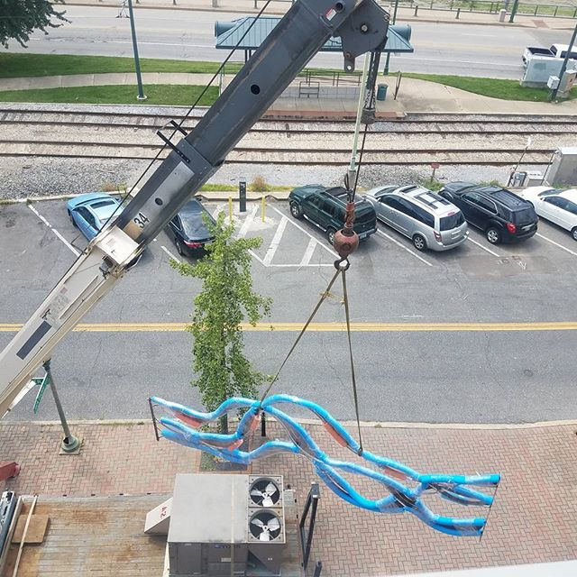 Rooftop River Installation #DowntownMemphis #Riversculpture