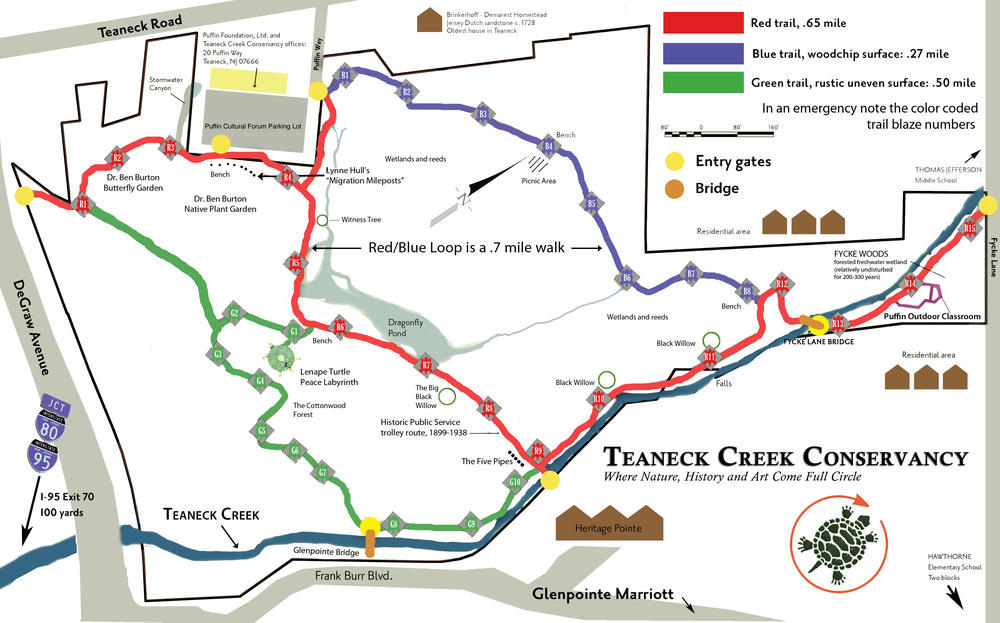 Click the trail map to enlarge.    Click here to download the trail map.
