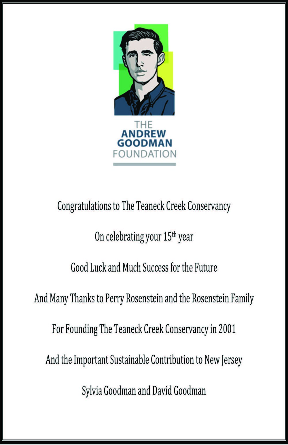 The Andrew Goodman Foundation