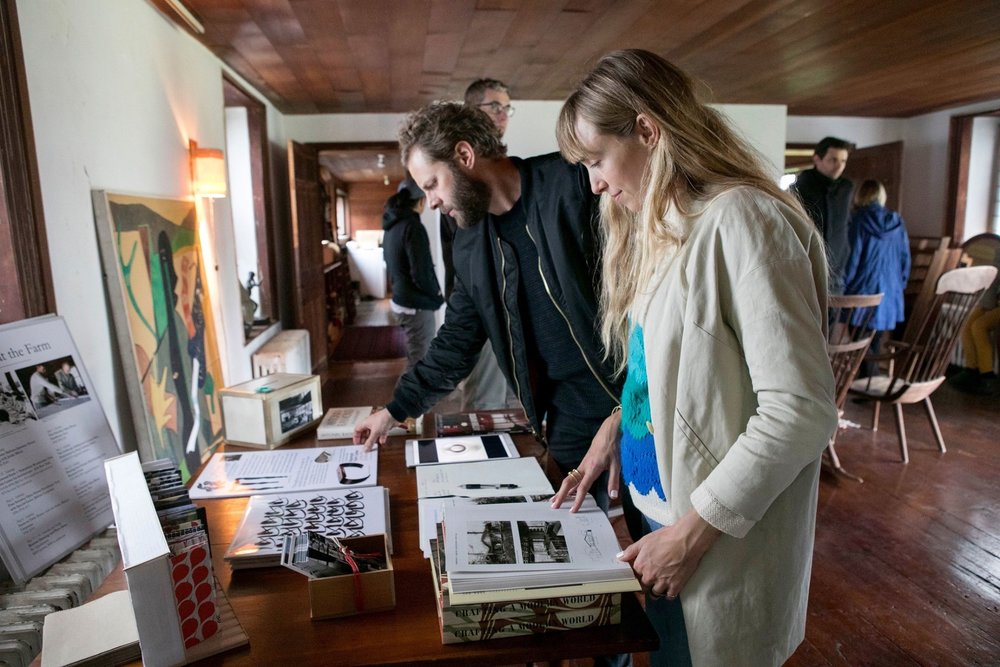 New York CFA Tour of Nakashima Studio and Raymond Farm Center April 22, 2017 Visitors from the New York Center for Architecture spent the day in Bucks County, touring the Raymond Farm Center after visiting Nakashima Studios.